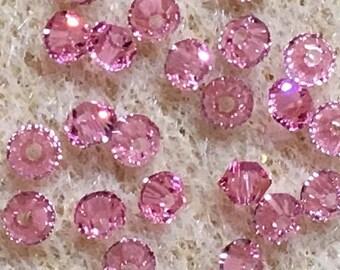 Rose 5328 Bicone Swarovski Crystal Beads 3mm