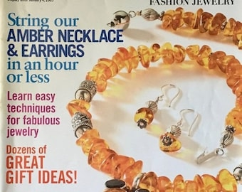 25% OFF Chic and Easy Magazine by Bead and Button Magazine Amber Necklace and Earrings Gift Ideas 40 Plus New Projects Winter 2005