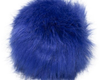 Extra Large Imitation Fur Faux Fur Pom Pom Ball with Loop for Craft Projects Hat Decoration Knitting Crochet 127mm 5 inches