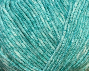 Clearance Turquoise Cascade Sarasota Cotton and Acrylic Tweed Yarn 314 yards color 05