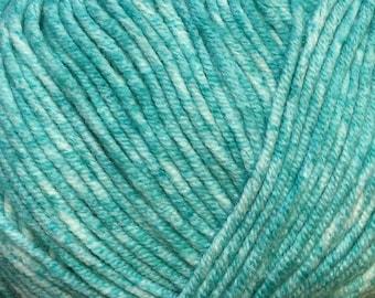 Turquoise Cascade Sarasota Cotton and Acrylic Tweed Yarn 314 yards color 05