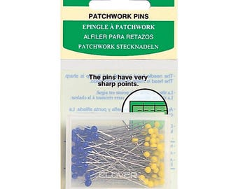 Patchwork Pins Very Sharp Points Glass Iron Proof Head Pins Sewing Quilting Beading Craft Projects with Plastic Storage Case 100 pins