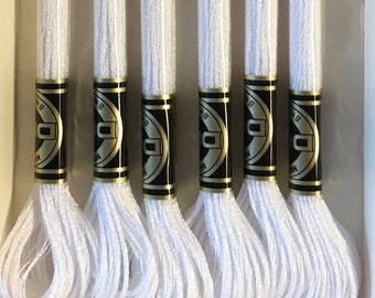 DMC E5200 White Metallic Light Effects Embroidery Floss 1 Skein 6 Strand Thread for Embroidery Cross Stitch Sewing Beading