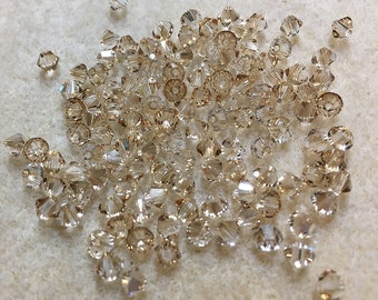 Crystal Golden Shadow 5328 Bicone Swarovski Crystal Beads 4mm Approx 48 beads