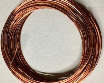 21 gauge Non Tarnish Antique Copper Square Craft Wire 7 yards Made in USA