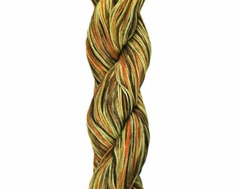 Ollagua Handpainted Pure Linen by Araucania Topacio Imperial Gold Orange Yellow Brown DK Weight Yarn 280 yards 100% Linen color 04