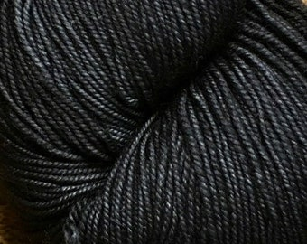 Black Lace Merino Hand Painted Ella Rae Yarn Sport Sock Weight 100% Wool 460 yards Color 28