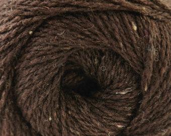 Aegean Tweed Coffee Bean Brown by Cascade Organic Wool Tweed Yarn Rustic Look Yarn 328 yards DK Weight Color 09