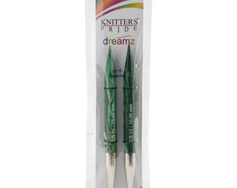 Size 15 Knitters Pride Dreamz Interchangeable Wood Circular Knitting Needle Tips 10.0mm
