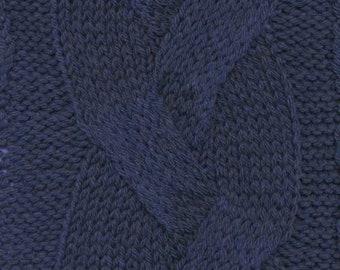 Marine Blue Cashmere Lana Gatto DK Weight Yarn 100 Percent Cashmere 164 yards Color 8121