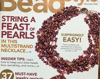 25% OFF Bead Style Magazine String a Feast of Pearls Multistrand Necklace Bonus Gift Guide November 2006