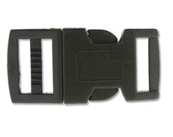 Clearance 15mm Black Plastic Paracord Macrame Buckles 6 complete sets