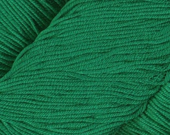 Egyptian Cotton Phoenix DK Ella Rae Yarn DK Weight 273 yards 100% Egyptian Cotton Yarn #1049 Shamrock Green