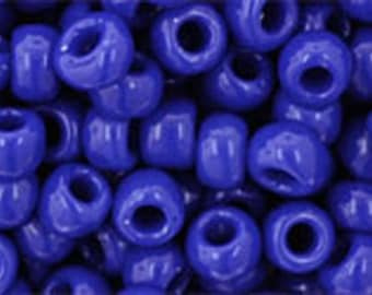 6/0 Opaque Navy Blue Toho Glass Seed Beads 2.5 inch tube 8 grams TR-06-48