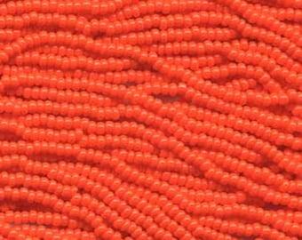 11/0 Orange Opaque Czech Glass Seed Beads 20 grams