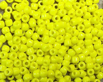6/0 Yellow Opaque Japanese Seed Beads 6 Inch Tube 28 grams #404