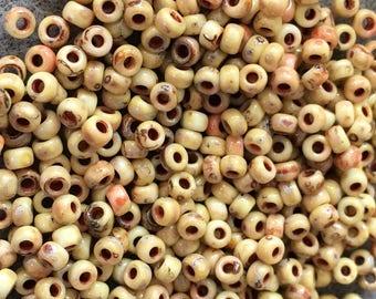 8/0 Yellow Picasso Miyuki Stone Look Seed Beads Japanese Beads 6 Inch Tube 28 grams #4512