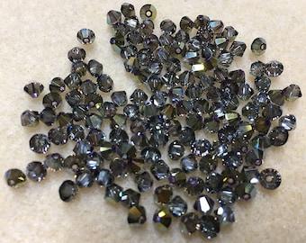 Iridescent Green 5328 Bicone Swarovski Crystal Beads 4mm