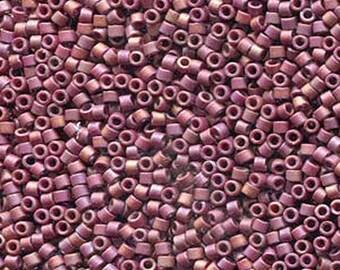 11/0 Miyuki Delica Frost Opaque Glazed Rainbow Dark Red Glass Seed Cylinder Beads 7.2 grams DB2308