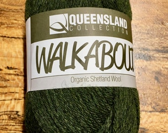 Tundra Green Walkabout Organic Shetland Wool by Queensland Collection Sport Weight Certified Organic 157 yards Color 23