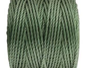 S-Lon Tex 400 Celery Green Multi Filament Cord 35 yard Spool