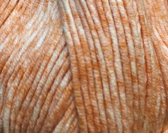 Clearance Orange Popsicle Cascade Sarasota Cotton and Acrylic Tweed Yarn 314 yards Color 07