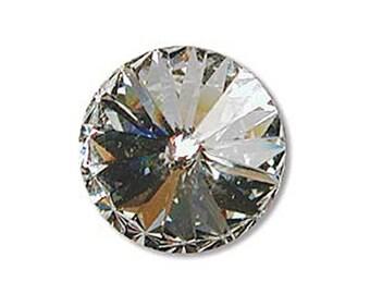 10mm Swarovski 1122 Crystal Faceted Foil Back Rivoli 47ss 2 pcs