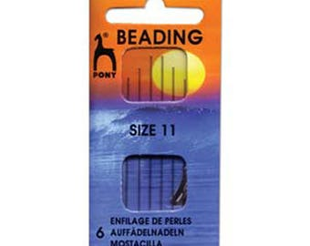 Pony Long Beading Needles Size 11