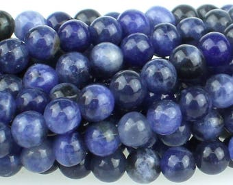 Sodalite 4mm Gemstone Rounds Approx 47 beads 8 Inch strand