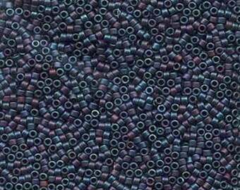 11/0 Miyuki Delica Matte Metallic Rainbow Blue Iris Glass Seed Beads 7.2 grams DB0325