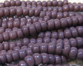 6/0 Purple Opaque Genuine Czech Glass Preciosa Rocaille Seed Beads 11 grams