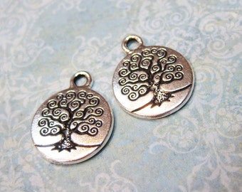 TierraCast Antique Silver Tree of Life Charms 19mm x 15.5mm One charm F563D