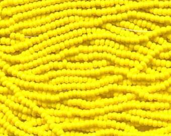 8/0 Yellow Opaque Czech Glass Preciosa Rocaille Seed Beads 40 grams