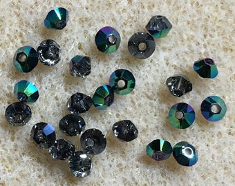 Scarabaeus Green 5328 Bicone Swarovski Crystal Beads 3mm
