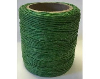 "Waxed Polyester Cord Kelly Green Maine Thread .040"" 1mm cord Waxed Cord Bracelets Wrap Bracelets Made in the USA One Spool 70 yards"