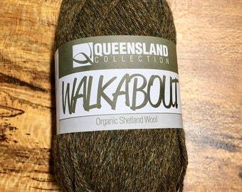 Scots Pine Walkabout Organic Shetland Wool by Queensland Collection Sport Weight Certified Organic 157 yards Color 08