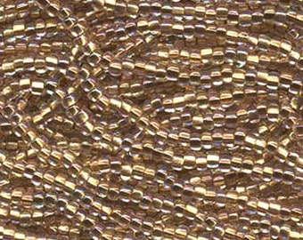 8/0 Crystal Bronze Lined AB Genuine Czech Glass Preciosa Rocaille Seed Beads 37 grams