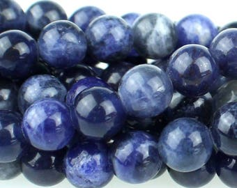Sodalite 6mm Gemstone Rounds Approx 33 beads 8 Inch strand