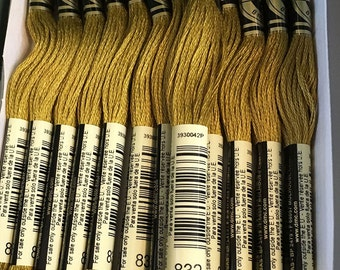 DMC 832 Golden Olive Embroidery Floss 2 Skeins 6 Strand Thread for Embroidery Cross Stitch Needlepoint Sewing Beading