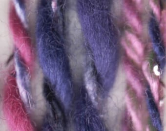 Violet DK Weight Yarn by On Line Purple Pink Cotton Acrylic Polyester Metallic Silver Sparkle 165 yards color 05