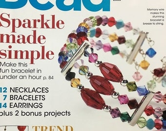 25% OFF Bead Style Magazine Sparkle Made Simple Trend Alert The Seasons Key Accessory Memory Wire Bracelets and Crystals January 2008