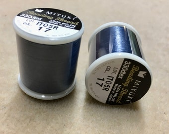Denim Blue Miyuki Nylon Japanese Beading Thread 55 yards