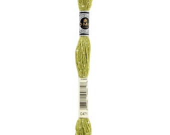 DMC C471 Very Light Green Avocado Etoile Embroidery Floss 1 Skein 6 Strand Thread for Embroidery Cross Stitch Sewing Beading