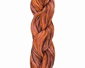 Ollagua Handpainted Pure Linen by Araucania Opalo de Fuego Orange Rust DK Weight Yarn 280 yards 100% Linen color 06