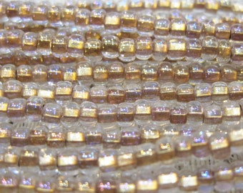 6/0 Crystal Bronze Lined Preciosa Czech Glass Seed Beads 12 grams