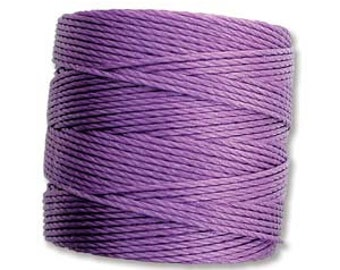 Violet S-Lon 210 #18 Bead Cord Tex 210 Multi Filament Twisted Nylon Cord One Spool 77 yards