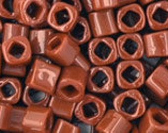 Opaque Terra Cotta 3mm Toho Cube Beads 2.5 inch Tube 8 grams TC-03-46L