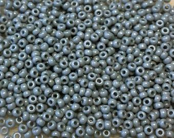 11/0 Opaque Medium Gray Japanese Seed Beads 6 Inch Tube 28 grams #416