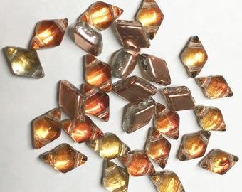 Diamonduo Prismatic Phoenix Pressed Glass Diamond Duo Two Hole Seed Beads 5x8mm 50 beads