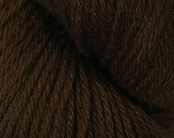 Dark Chocolate Brown Cascade 220 Yarn 220 yards 100% Peruvian Highland Wool color 9557